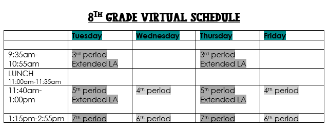 pic of class sched