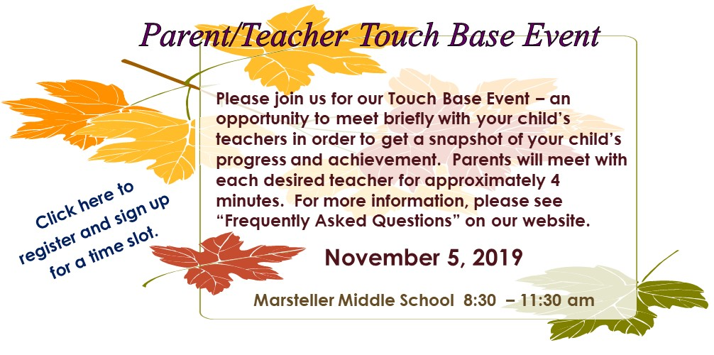MMS Fall Touch Base Conference Informatio
